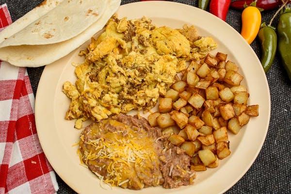 Chorizo & Egg Plate