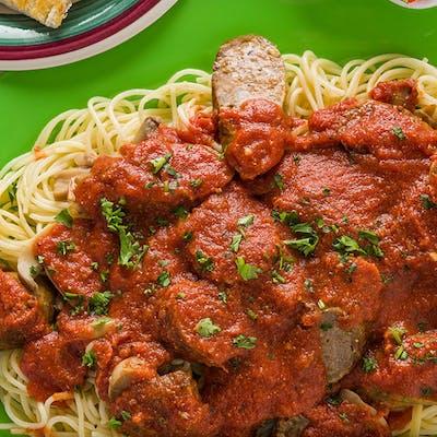 Spaghetti & Italian Link Sausage