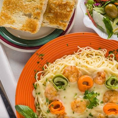 Gulf Shrimp Alfredo Pasta