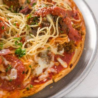 Spaghetti & Meatballs Pizza