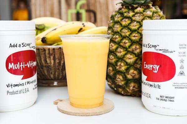 Mango, Pineapple, Peach Smoothie