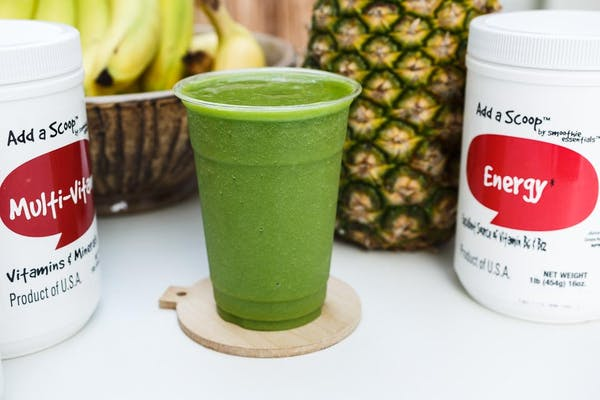Spinach, Pineapple, Kale Smoothie