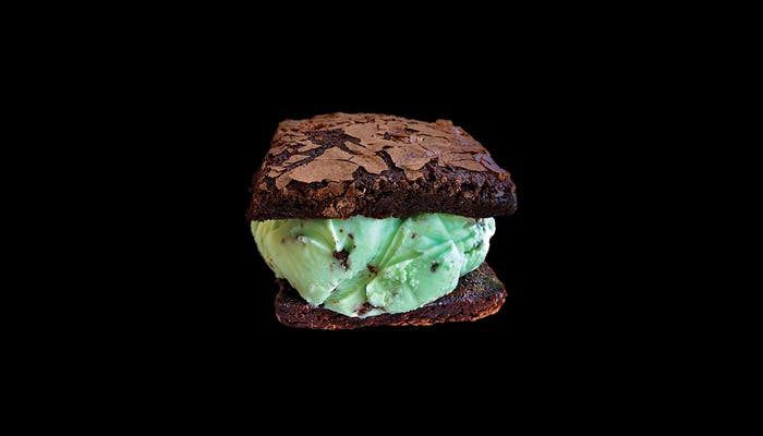Brownies w/ Mint Chip Ice Cream