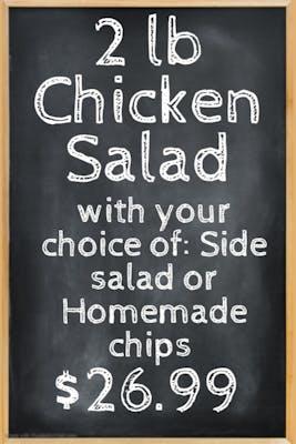 Homemade Chicken Salad combo (2lb) (feeds 4)