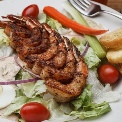 Blackened Shrimp Remoulade Salad