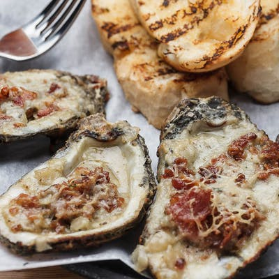Bacon & Bleu Cheese Chargrilled Oysters