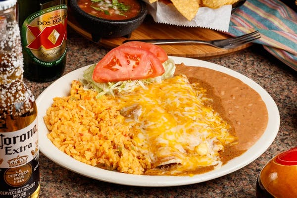 Ground Beef Enchilada Plate