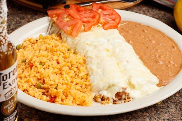 Sour Cream Enchiladas Plate