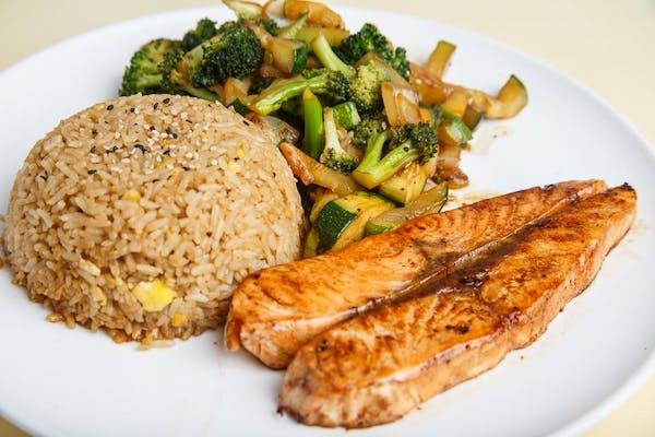 Salmon Hibachi Dinner