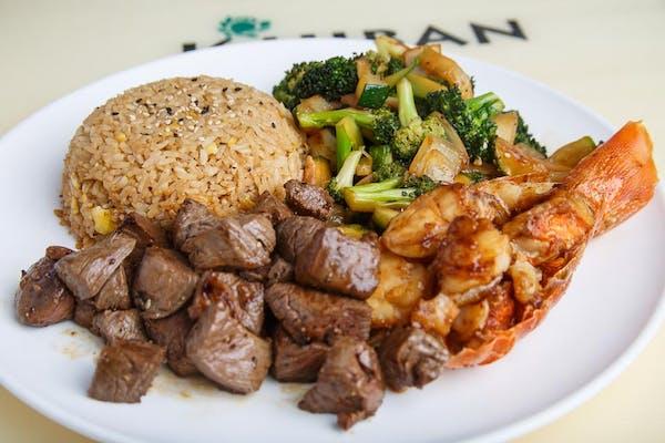 Filet & Lobster Tail Hibachi Dinner