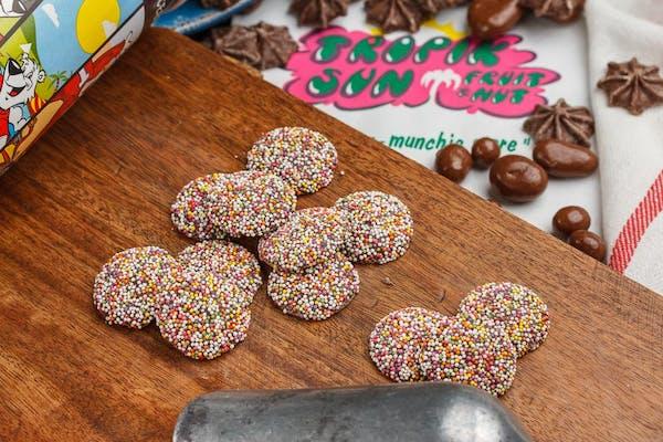 Sprinkled Dark Chocolate Nonpareils