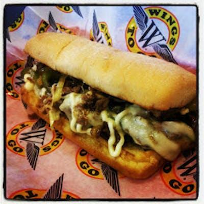 Philly Cheese Steak Sandwich & Fries