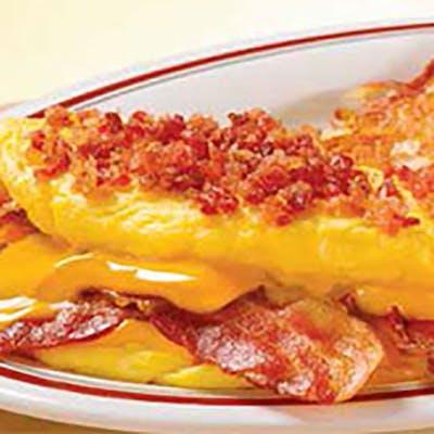 Mega Bacon & Cheese Omelet