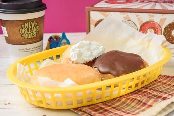 White Cream Filled Donut