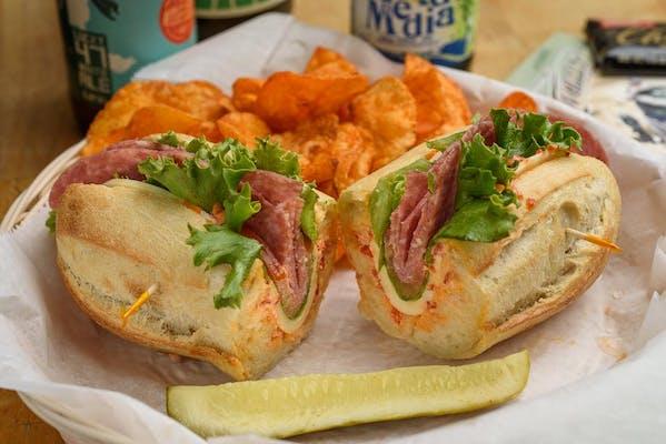 Genoa Salami & Provolone Sandwich