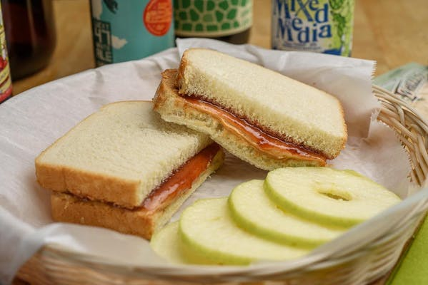 Peanut Butter & Strawberry Jam Sandwich