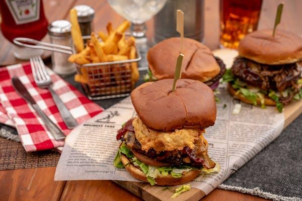 "The ""Hub City"" Club Burger"
