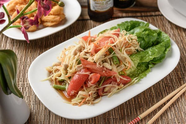 Y14. Fresh Green Papaya Salad (Som Thaam)