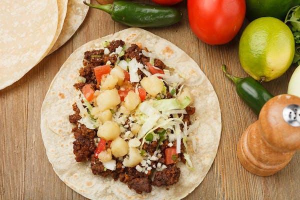 Ground Meat & Potato Taco