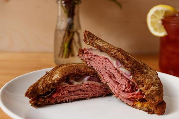Hot Pastrami Sandwich