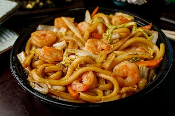 N-3. Stir-Fried Udon with Shrimp