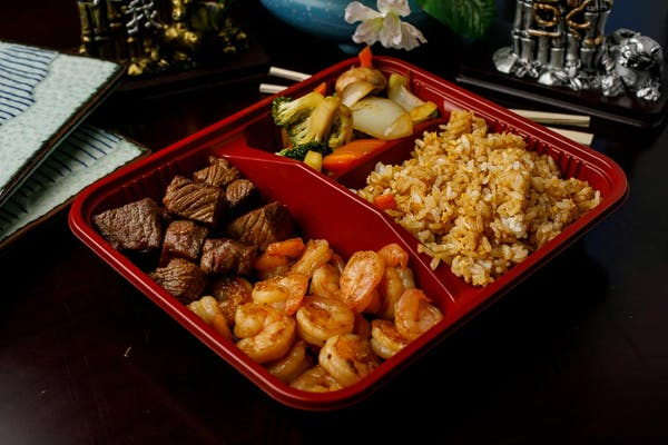 H-10. Steak & Shrimp Hibachi