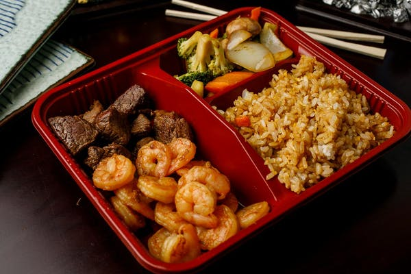 H-13. Filet Mignon & Shrimp Hibachi