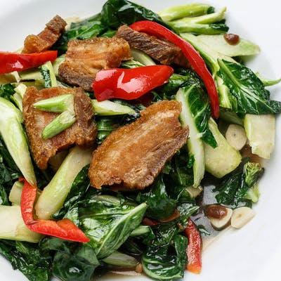 Crispy Pork & Chinese Broccoli