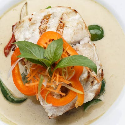 Grilled Mahi-Mahi Green Curry