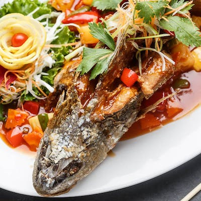 Three-Flavored Whole Fish