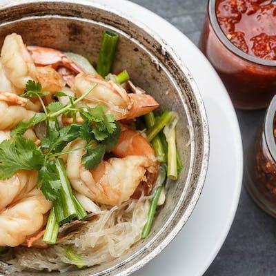 Glass Noodle Shrimp Bake