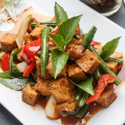 Vegan Kaffir Lime Tofu