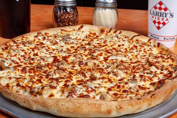 Chicken, Ranch & Mushroom Pizza