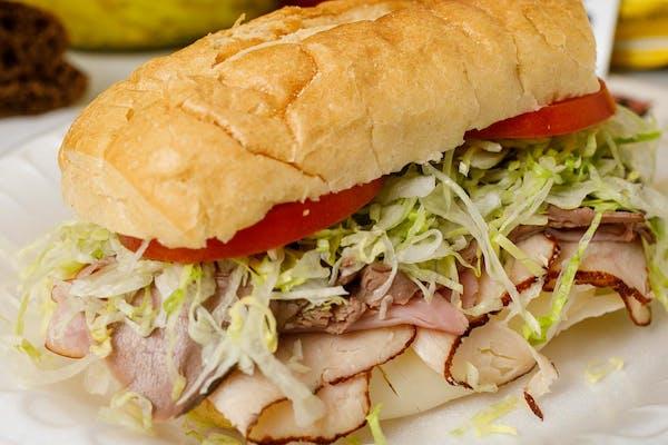 Ham, Turkey, Roast Beef & Cheese Sub Sandwich