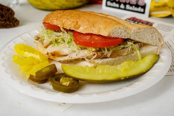 Grilled Chicken & Cheese Sub Sandwich