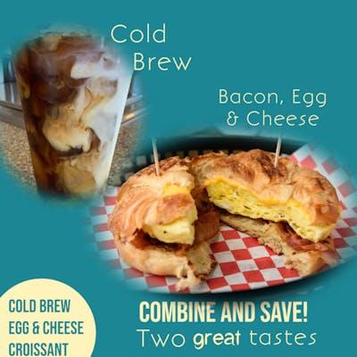 Egg & Cheese Breakfast Combo (Medium Coffee Incl.)