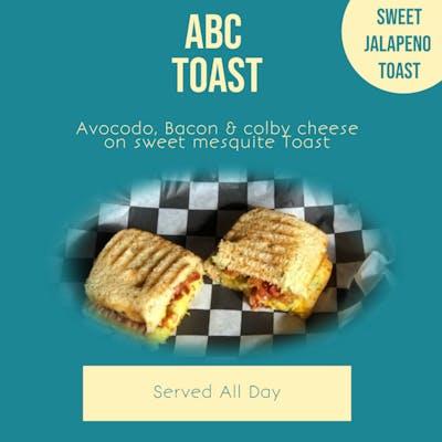 Avocado, Bacon & Cheese on Jalapeno bun - ABC BUN