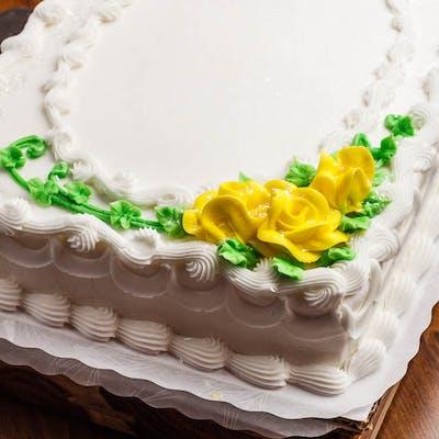 (¼) Roses Sheet Cake