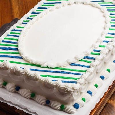 (¼) Striped Sheet Cake