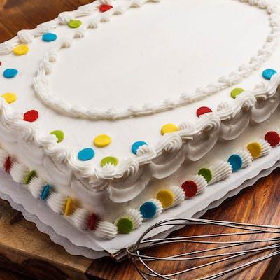 (¼) Polka Dots Sheet Cake