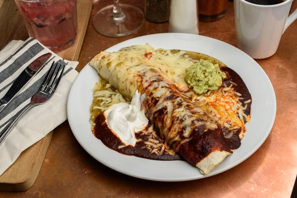Smothered Breakfast Burrito
