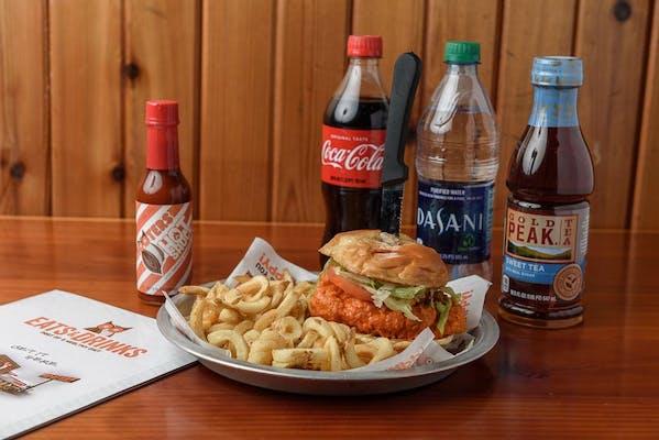Buffalo Chicken Sandwich Coca-Cola Combo