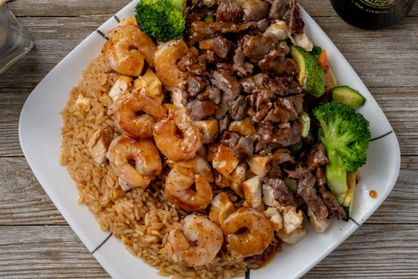 Chicken, Shrimp & Steak Hibachi Dinner