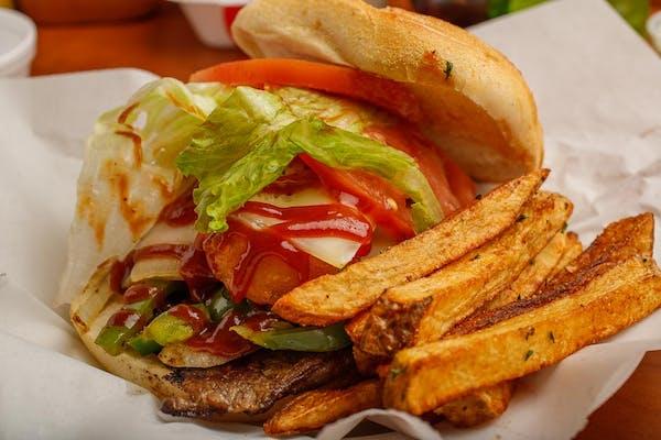 Rodeo Ribeye Steak Burger