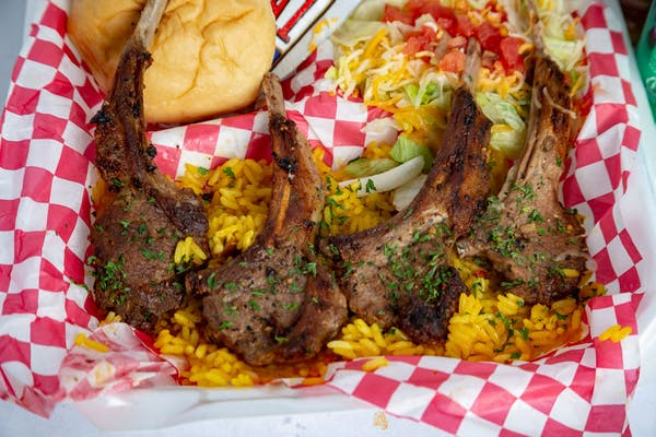 Lamb Chops, Rice & Salad