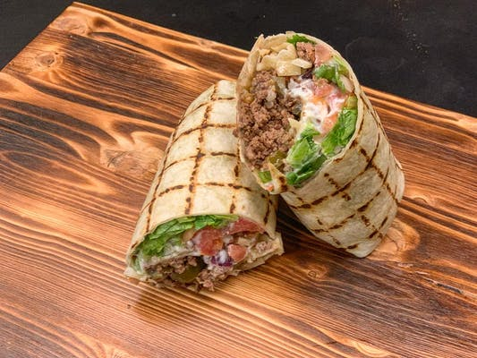 Beef Queso Wrap