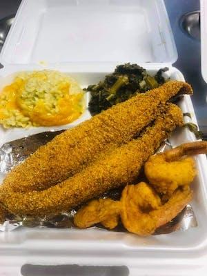 Fried Catfish & Shrimp Basket