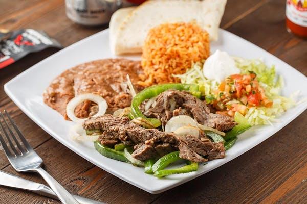 Chicken or Beef Fajita Plate