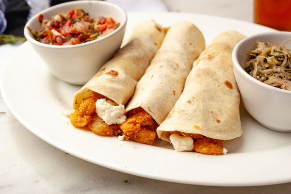Greek Shrimp or Fish Tacos