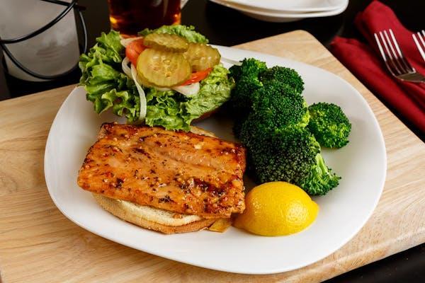 Apple Wood Salmon Sandwich